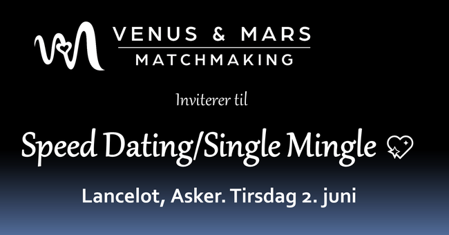 Speed dating 💘 Tirsdag 2. juni